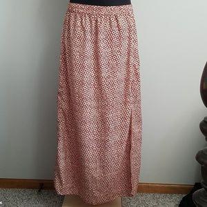 Michael Kors Red & Cream Skirt